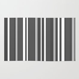 Grey Scale Lines Rug