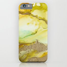 Gold Abstract 3 iPhone Case