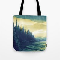 oregon Tote Bags featuring Oregon Field by Big Friend