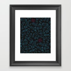 Crystals Pattern Framed Art Print