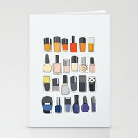 nail polish Stationery Cards featuring my nail polish collection by uzualsunday