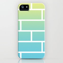 BRICK V - Wall on summer breeze gradient iPhone Case