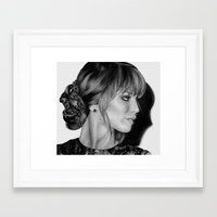 jennifer lawrence Framed Art Prints featuring Jennifer Lawrence by Emma Porter