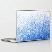 leather Laptop & iPad Skins featuring Blue Leather by The Wellington Boot