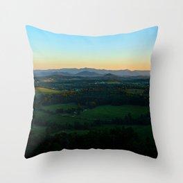 Glassy Mountain, South Carolina Throw Pillow