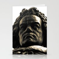 beethoven Stationery Cards featuring Beethoven Bust by Doug Bonebrake