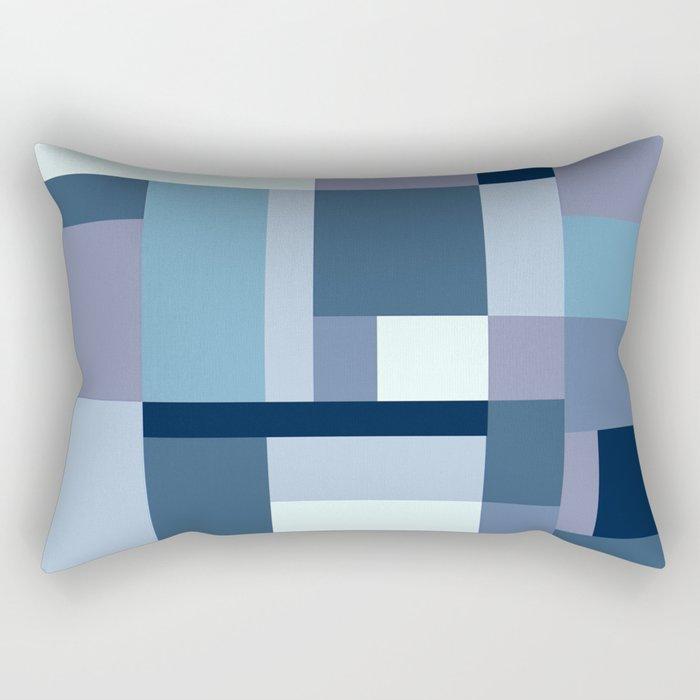 Abstract #387 Blue Harmony Rectangular Pillow