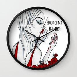 Blood Of My Enemies Wall Clock