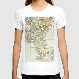 Vintage Map of the South Of The United States Of America T-shirt