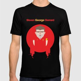 Steven Gerrard Liverpool Illustration T-shirt