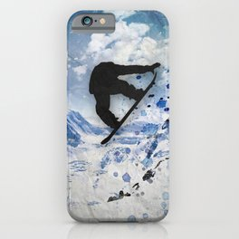 Snowboarder In Flight iPhone Case