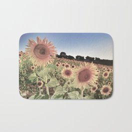 """Sunflowers"" Vintage summer.... Bath Mat"