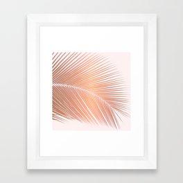 Palm leaf - copper pink Framed Art Print