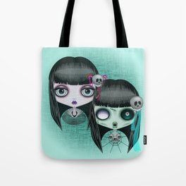 Zombie Doll The Dark Side Tote Bag