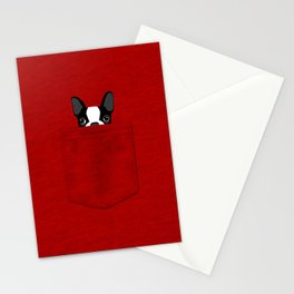 Pocket Boston Terrier Stationery Cards