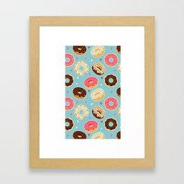 Donut - Doughnut - Bagel - Pattern - Polka Dot Framed Art Print