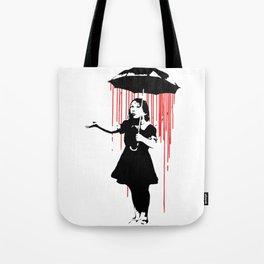 Rain Girl - Banksy, Umbrella Raining Streetart Street Art, Grafitti, Artwork, Design For Men, Women, Tote Bag