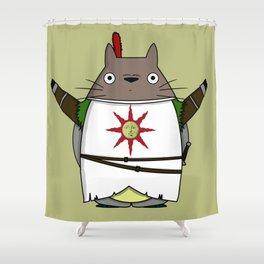 Totoros - Praise the sun Shower Curtain