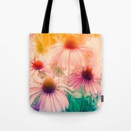 Happy Summerflowers Pastell Tote Bag