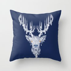 RAINdeer Throw Pillow