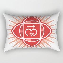 Muladhara chakra Rectangular Pillow