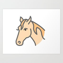 Hilly The Horse Art Print