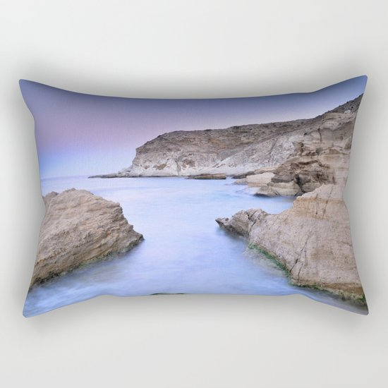 """Blue Volcano"" Rectangular Pillow"