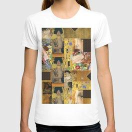 Klimt geometric collage T-shirt