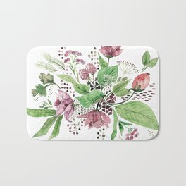 Floral festival Bath Mat