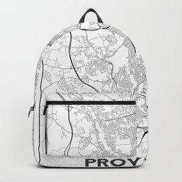 Minimal City Maps - Map Of Providence, Rhode Island, United States Backpack