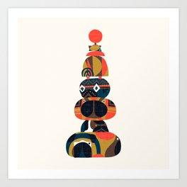 Tower of Pugs Art Print