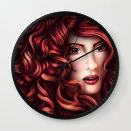 Red Portrait Wall Clock