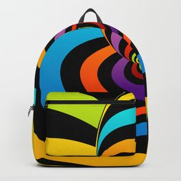 Valentine hearts twirling in rainbow colors Backpack