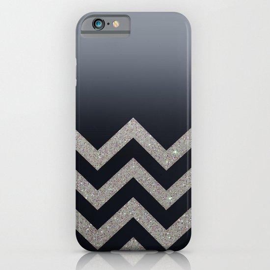 BLACK FADING SILVER CHEVRON iPhone & iPod Case