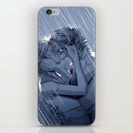 Supercat Kiss in the Rain BLUE iPhone Skin