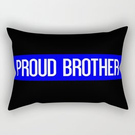 Police: Proud Brother (Thin Blue Line) Rectangular Pillow