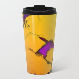 Yellow erosion Travel Mug