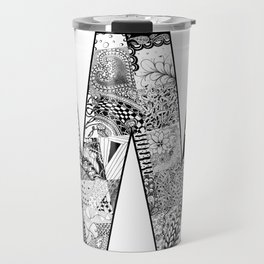 Cutout Letter W Travel Mug