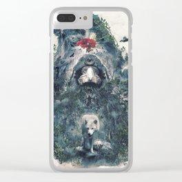 Beware The Door Clear iPhone Case