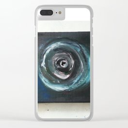 blck holes decaying souls Clear iPhone Case
