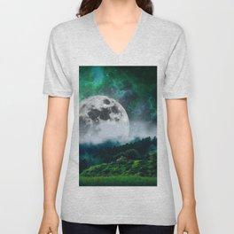 Moonscape Unisex V-Neck