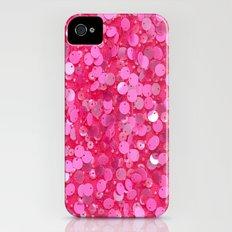 Pink Glitter Slim Case iPhone (4, 4s)