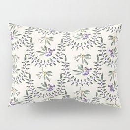 Natural Olive Leaf Berry Birds on Branch Pillow Sham