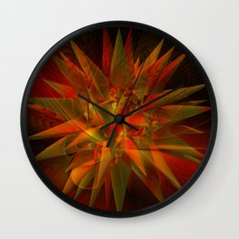barth's decic overlayed with a fractal design Wall Clock