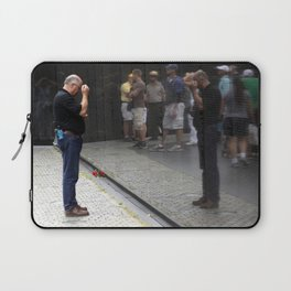 Remembrance at Vietnam Wall Laptop Sleeve
