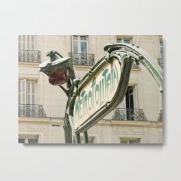 Metro station entrance Paris, France Metal Print