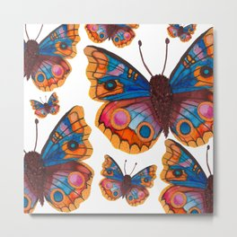 Blue Buckeye Butterflies Metal Print