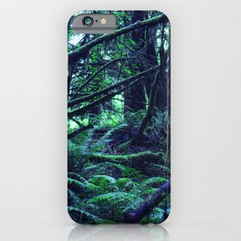 Magnificently Magical Forest In Turquoise Blue & Juniper Green iPhone Case