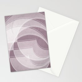 Spacial Orbiting Spiral in Musk Mauve Stationery Cards