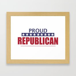 Proud Republican Framed Art Print